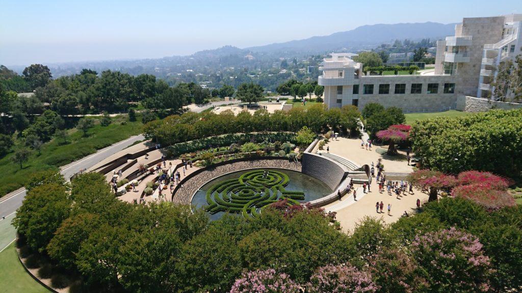 ゲティ美術館の庭