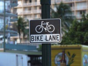 バイクレーン標識