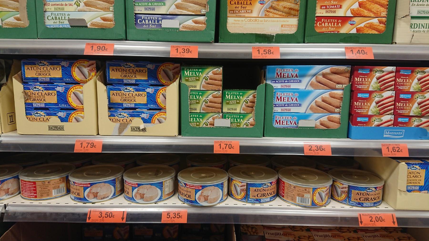 スペインのスーパーマーケット!お土産おすすめ品から驚きの品まで!